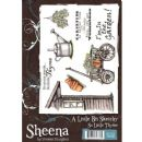 Crafters Companion - Sheena Douglass - A Little Bit Sketchy A5 Rubber Stamp Set - So Little Thyme